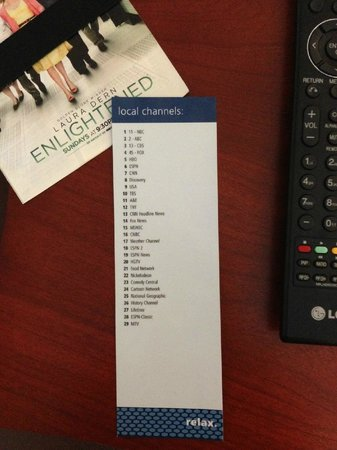 Hampton Inn Owings Mills: TV Channel Lineup