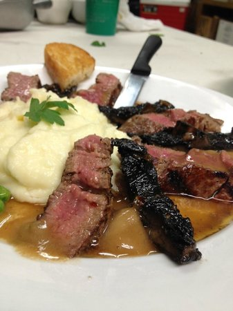 Relish: Beef Tenderloin with Grilled Portabellas and Marsala brown butter