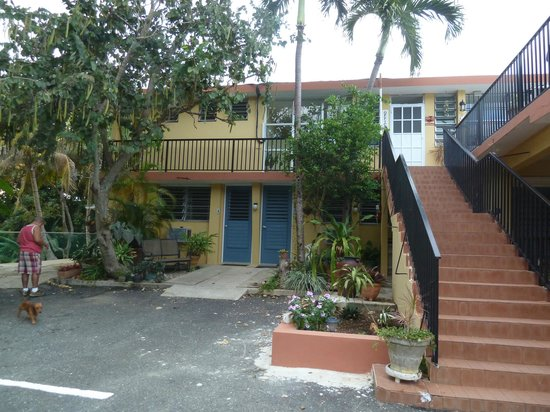 Ceiba Country Inn: Some rooms and stair leading up to lounge/office
