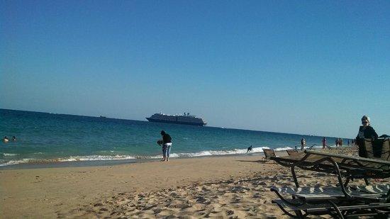 Fort Lauderdale Marriott Harbor Beach Resort & Spa: Soft Sand Beach, well kept