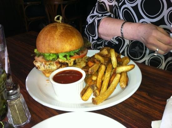 the Sovereign Room: now, that's a burger!