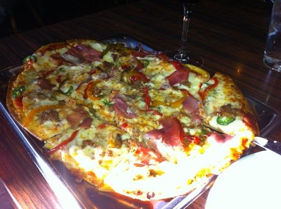 the Sovereign Room: Spanish Pizza. wonderful.