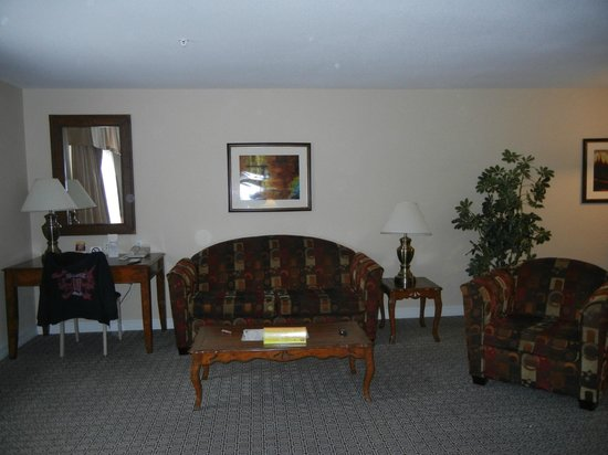 Tuscany Suites & Casino:                   part of sitting area in room