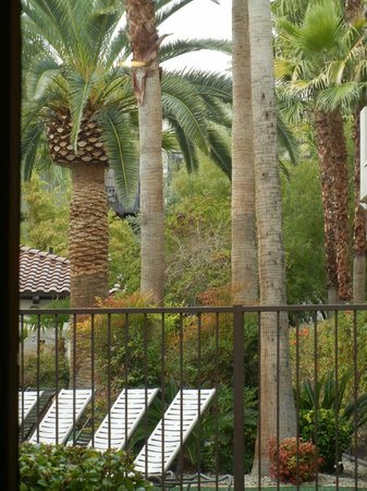 Tuscany Suites & Casino:                   view through door at coffee shop                 