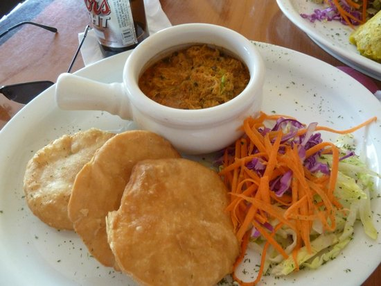 Terruno: Crab meat with fried bread