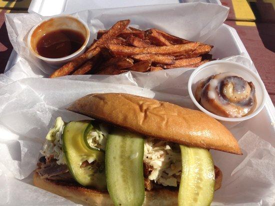 Heli-Hogs :                   Best pulled pork sandwich in town!