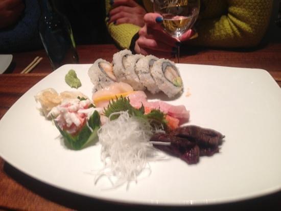 Alex Sushi: red menu - sashimi + tempura maki