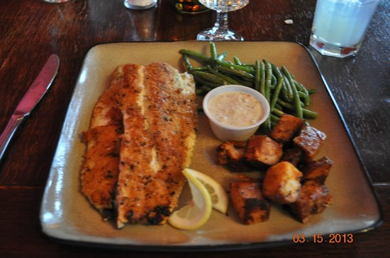 The Peppermill: Southern Herb encrusted Trout
