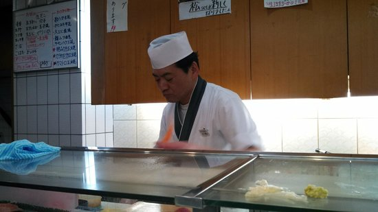 Edokkozushi: The very friendly samurai-sushi maker.