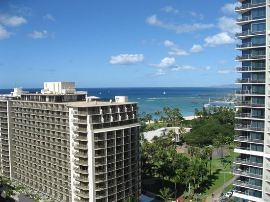 Embassy Suites by Hilton Waikiki Beach Walk: パーシャル・オーシャンビューになります
