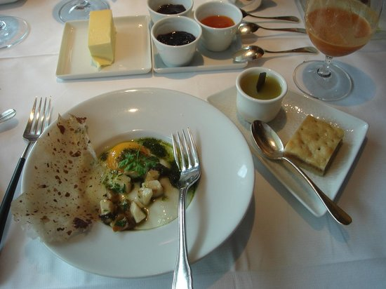 Restaurant Obauer: One of the breakfast courses