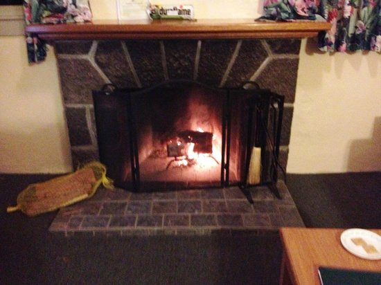 Kilauea Volcano Military Camp:                                     Fireplace!  Toasty!