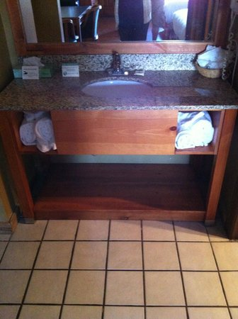 Timbers Lodge:                   Sink/Vanity
