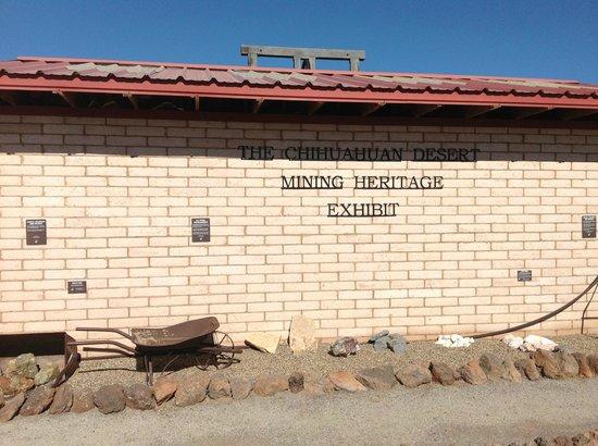Chihuahuan Desert Nature Center & Botanical Garden:                   small mining museum