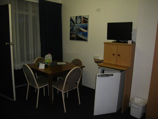 Luhana Motel & Horse Stables:                                     dining table inside room
