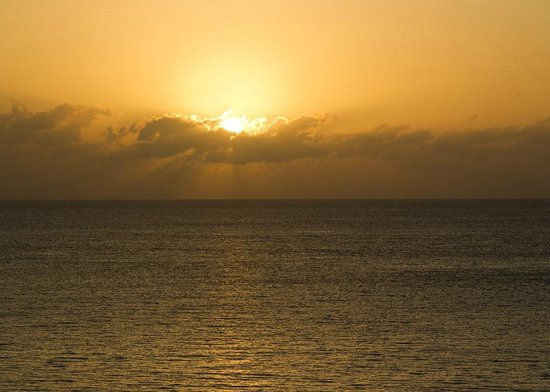 Cozumel Palace:                   Sunset from room