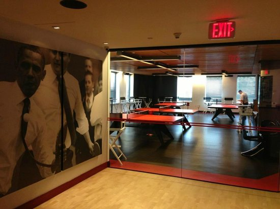 The Standard Downtown:                   ping pong room
