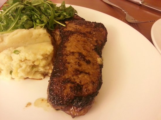 Anaheim Marriott:                   Room service dinner - NY steak with cheddar mash and arugula salad. Delicious.