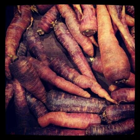Good Natured Collective:                   Purple organic carrots at Good Natured