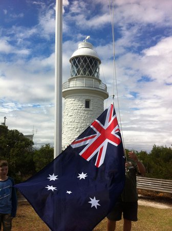 Cape Naturaliste Lighthouse: Raising the Australian Flag