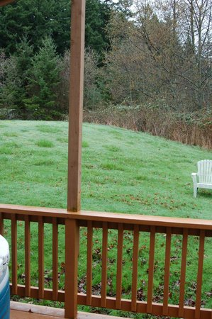 Deer Harbor Inn: Backyard view from Orchard cottage