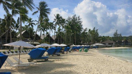 Palau Pacific Resort: すぐ前にあるビーチです。