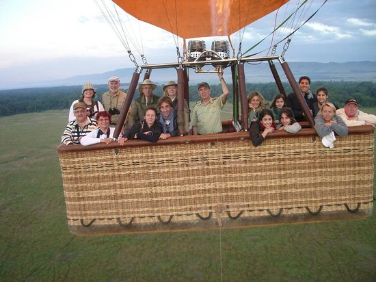Governors' Camps Hot Air Ballooning:                                     Aerial photo of the flight