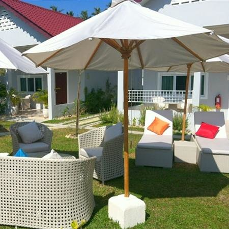 Langkawi Chantique Resort:                   Surrounding...enjoy the sun on the beach chairs