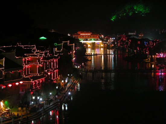 Fenghuang Town: Night scene