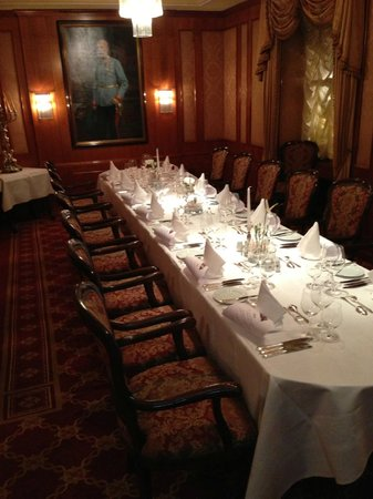Hotel Imperial Vienna: Private dining at the Imperial...