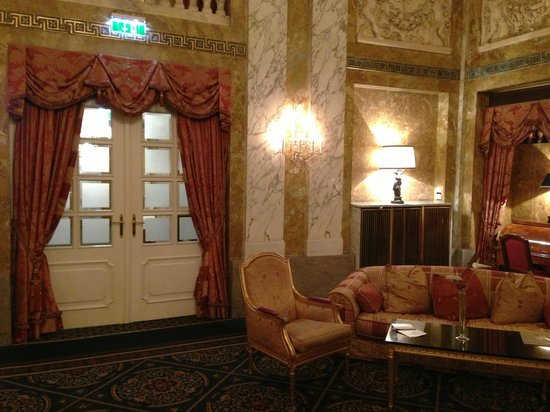 "Hotel Imperial Vienna: Ornately ""old school""..."