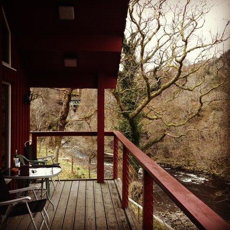 Tigh an Daraich Luxury Lodges : Balcony peace and quiet