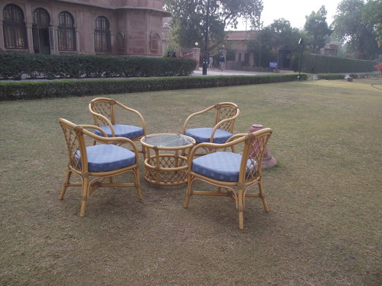 Lallgarh Palace: morning Tea place