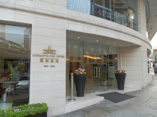 Cosmopolitan Hotel Hong Kong (to be renamed Dorsett Wanchai, Hong Kong in Oct 2016): Hotel entrance