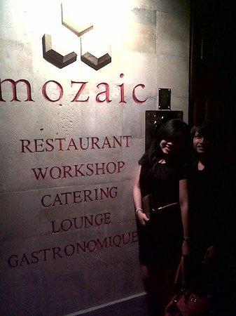 Mozaic Restaurant Gastronomique: the sign board