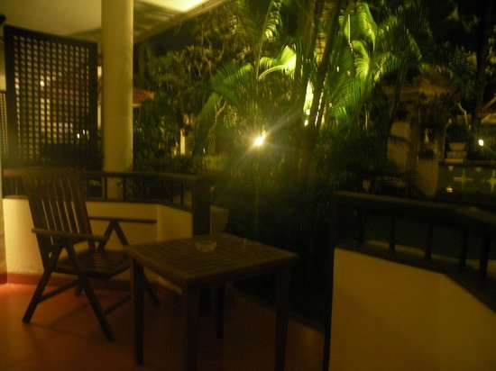 The Tanjung Benoa Beach Resort Bali: Our room balcony
