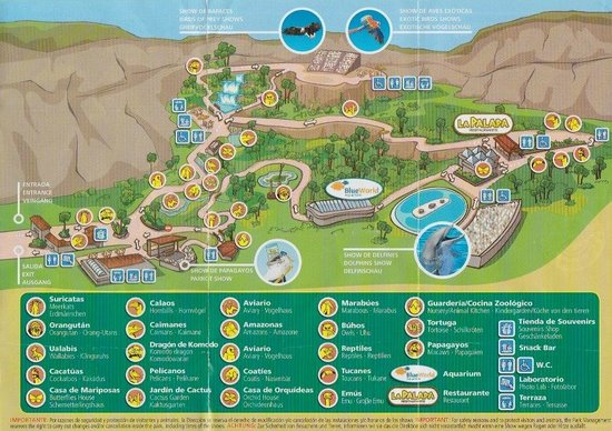 The Park Map Picture of Palmitos Park Maspalomas TripAdvisor