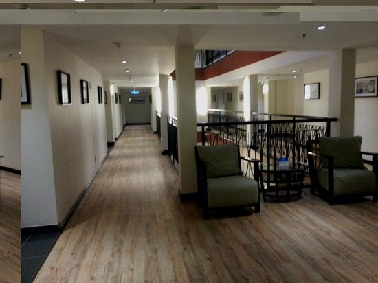 Hotel Sixty3: Open Layout of Hotel Corridors