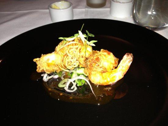Slipper lobster gulf prawns in golden noodles picture of the the cowrie slipper lobster gulf prawns in golden noodles publicscrutiny Image collections