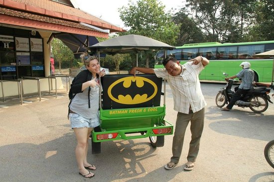 Siem Reap, Cambodge : batman and clients