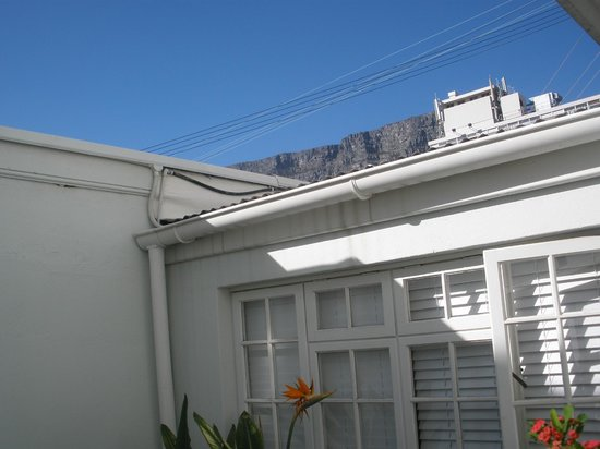 Cape Cadogan: View of table Mountain from outside room patio