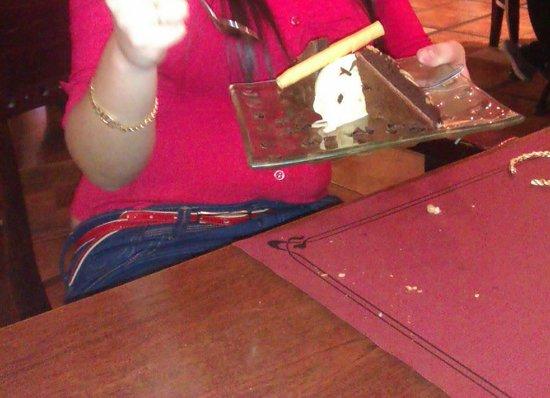 Happy Bar & Grill: brownie de chocolate con helado de vainilla