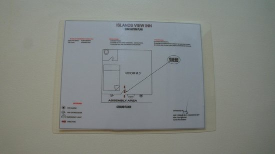 Islands View Inn: Emergency Exit Procedure