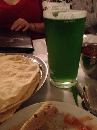 Thespians: St Patricks Green Cobra Beer