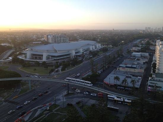 Mantra Broadbeach on the Park: watching the world go by from the balcony
