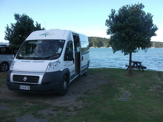 Sandspit Holiday Park : nearly in the water