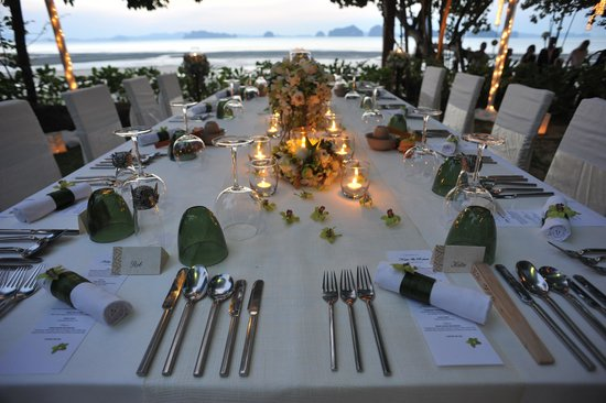 The Tubkaak Krabi Boutique Resort: Wedding set up