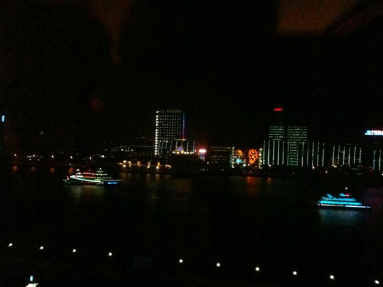 Grand Kempinski Hotel Shanghai: View from River View room at night