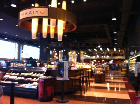 "Cosentino's Market and Deli: View from the ""Dine In"" area of Cosentino's."