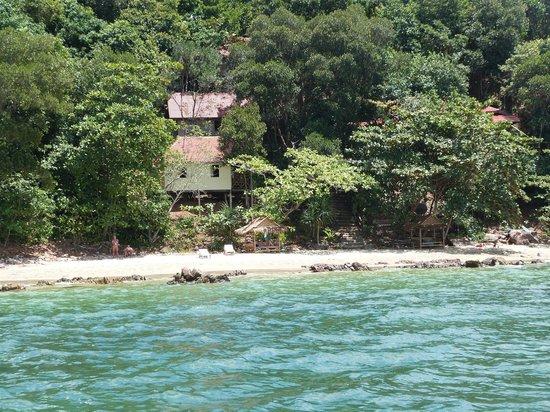 Jungle Hill Bungalow : vue du bateau